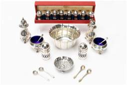 22 PC Sterling Group, Shakers, Bowls, & Spoons