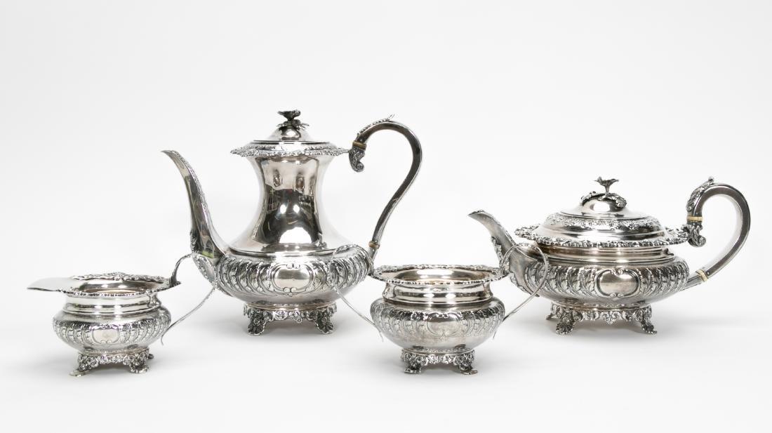 4 Piece English Silver Tea & Coffee Service