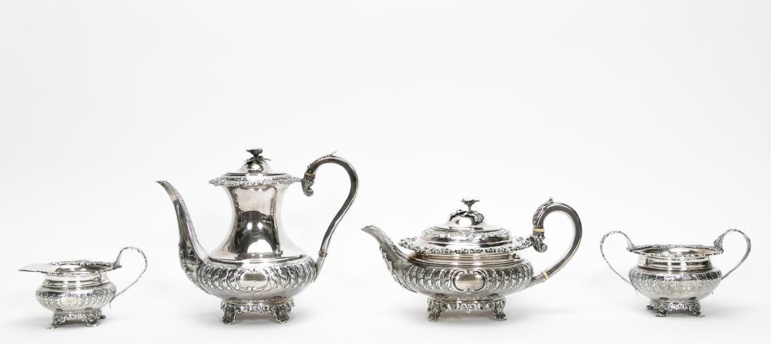 4 Piece English Silver Tea & Coffee Service - 2