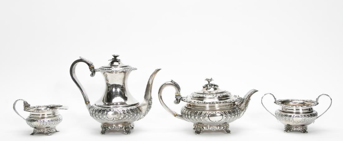 4 Piece English Silver Tea & Coffee Service - 3