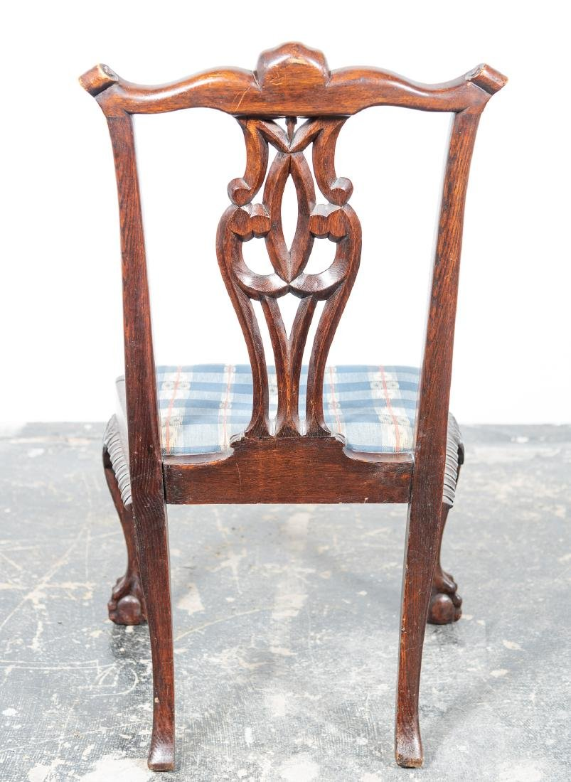 Set, Six Oak Chippendale Style Dining Chairs - 2