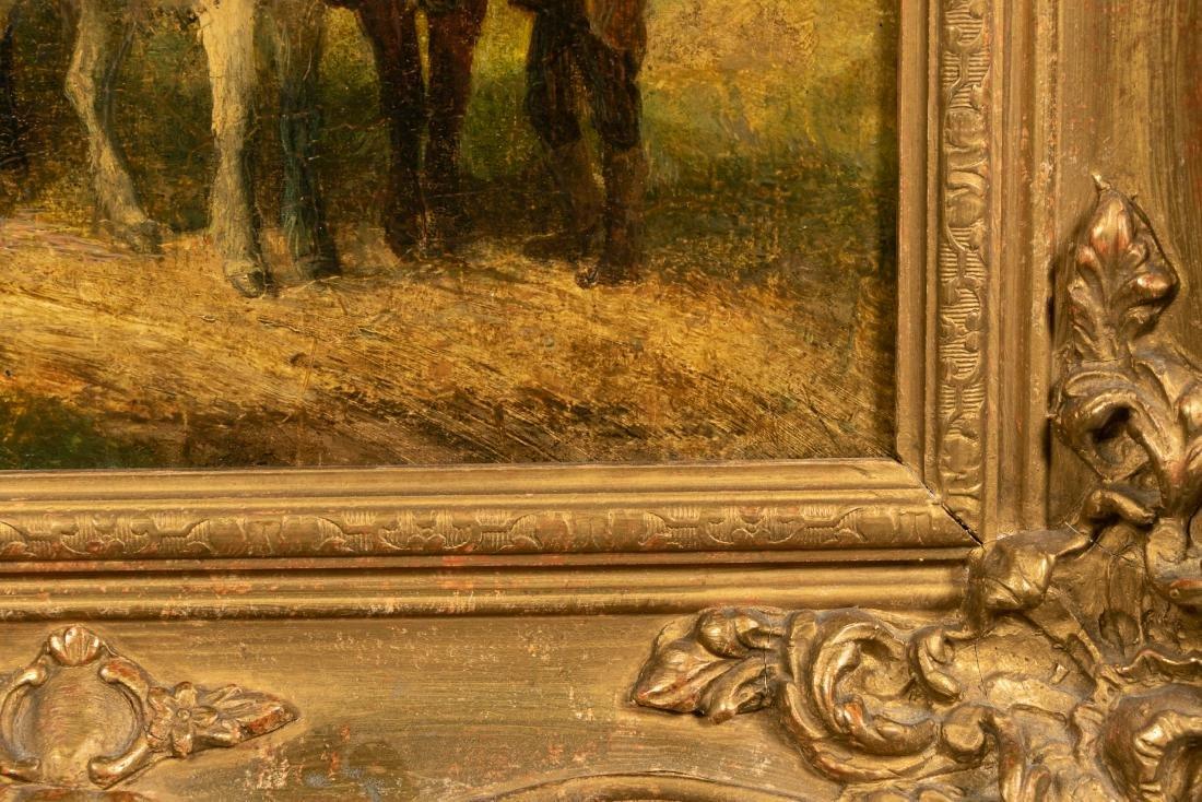 Oil on Wood Panel, Genre Scene - 3