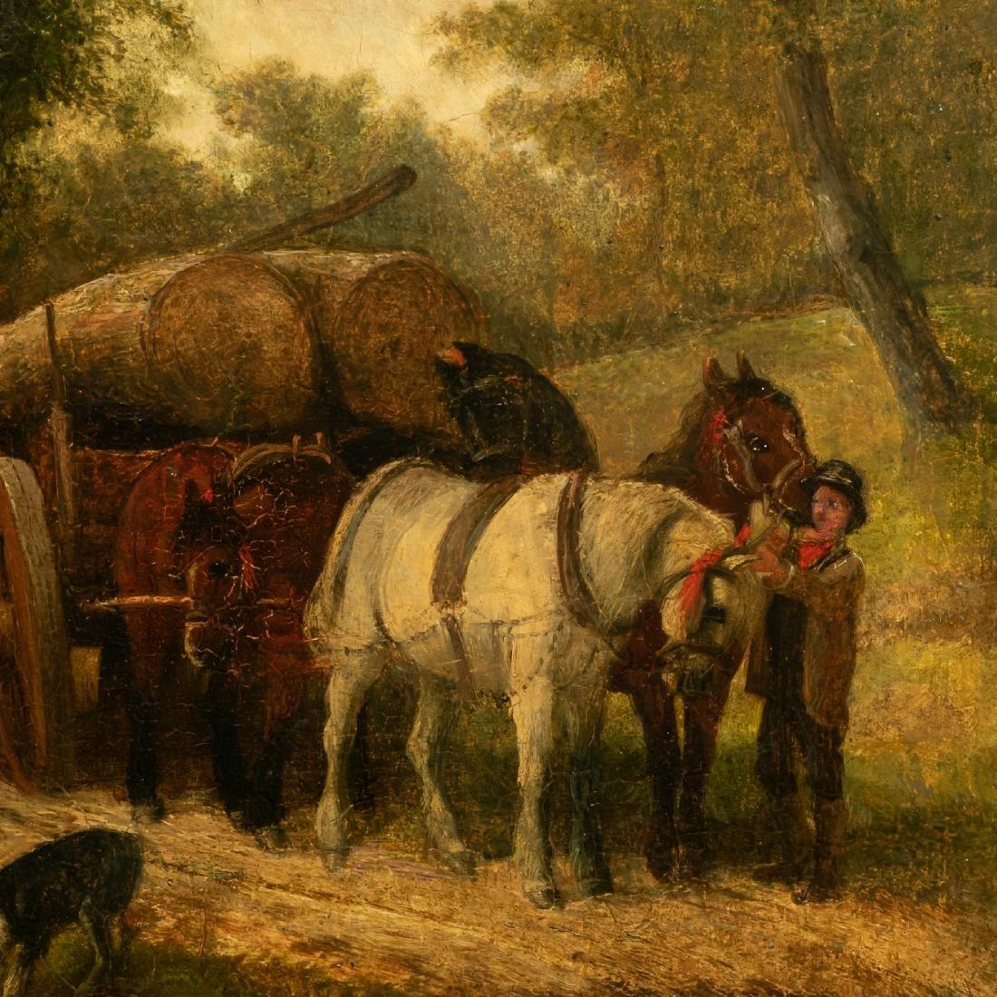 Oil on Wood Panel, Genre Scene - 4
