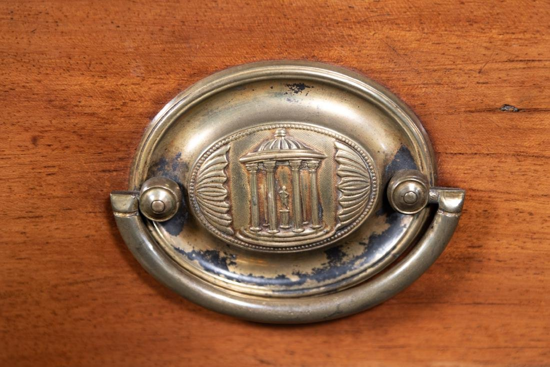 English Sheraton Serpentine Inlaid Chest, 19th C. - 10