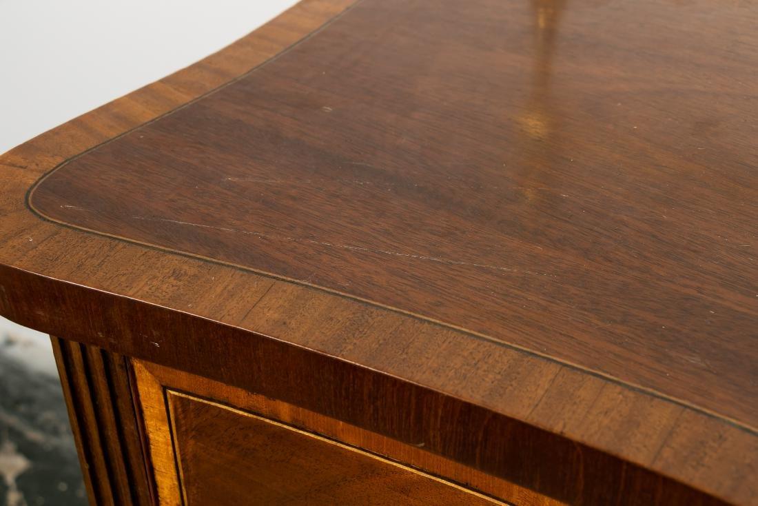 English Mahogany Serpentine Front Sideboard - 10