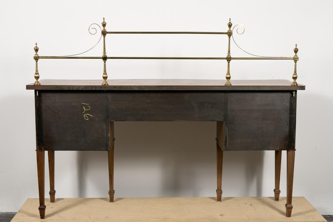 English Mahogany Serpentine Front Sideboard - 2