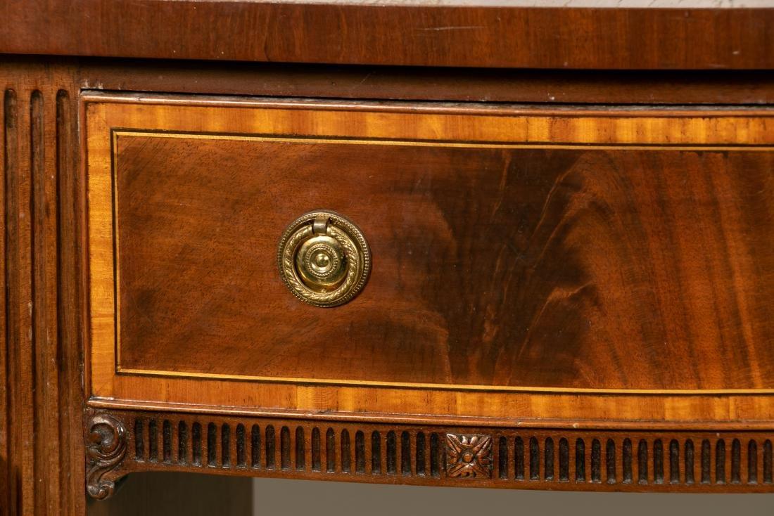English Mahogany Serpentine Front Sideboard - 8
