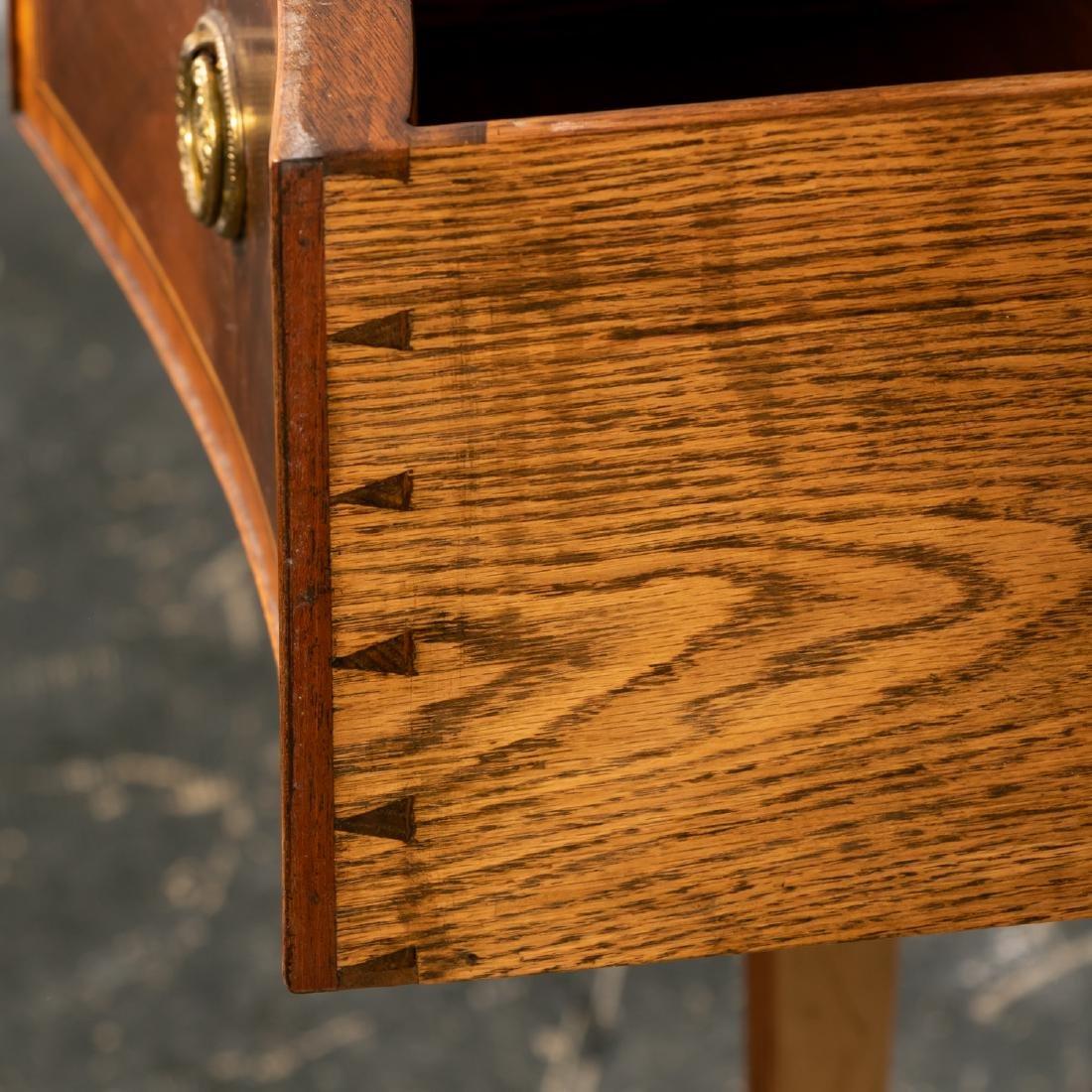 English Mahogany Serpentine Front Sideboard - 9