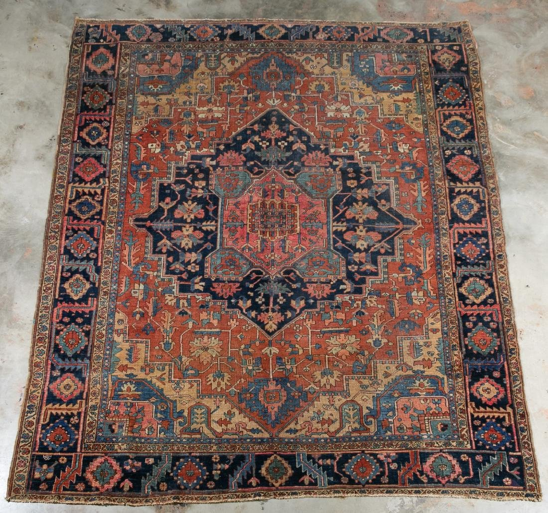 "Hand Woven Heriz Rug or Carpet, 9' 7"" x 12'"