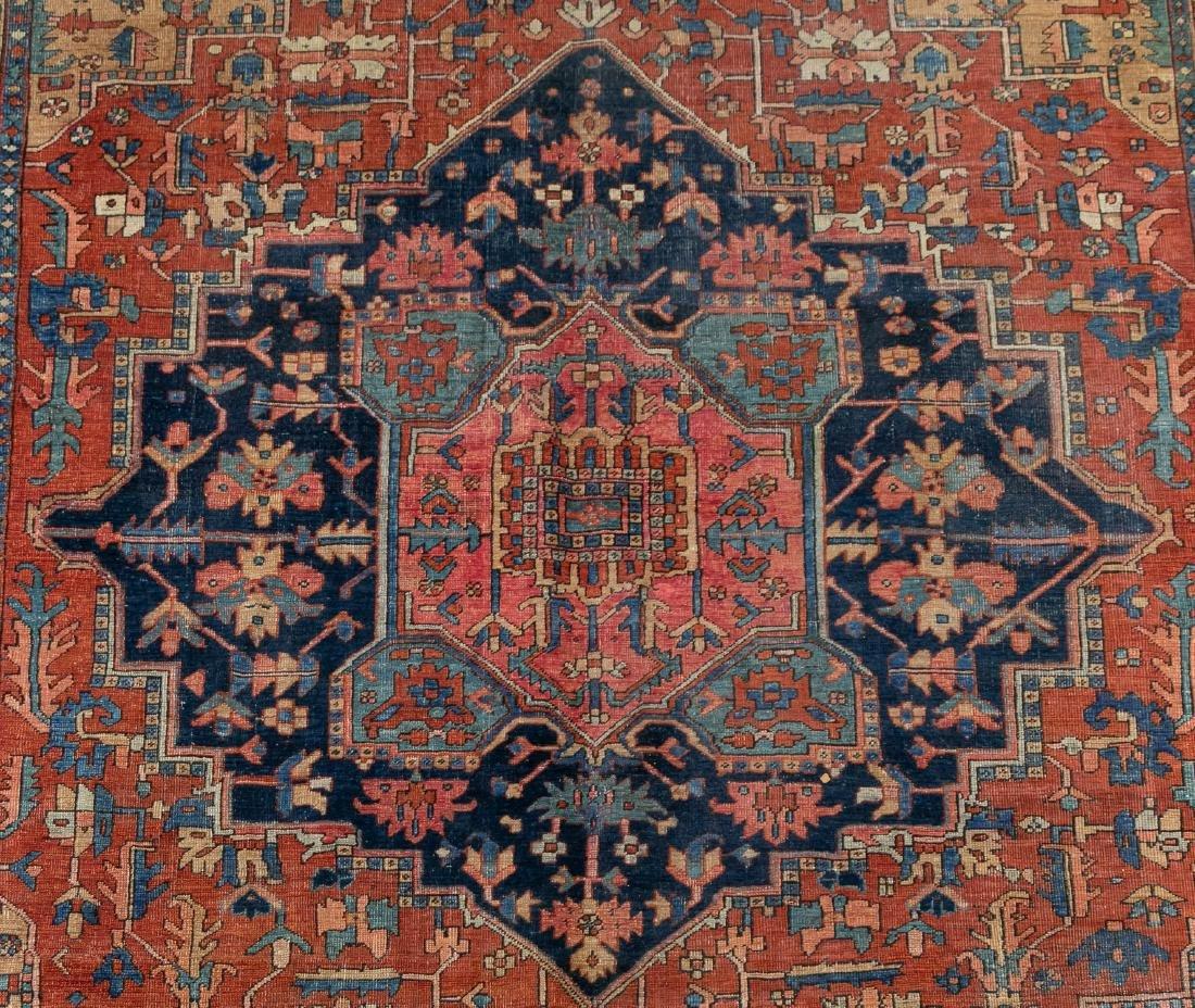 "Hand Woven Heriz Rug or Carpet, 9' 7"" x 12' - 2"