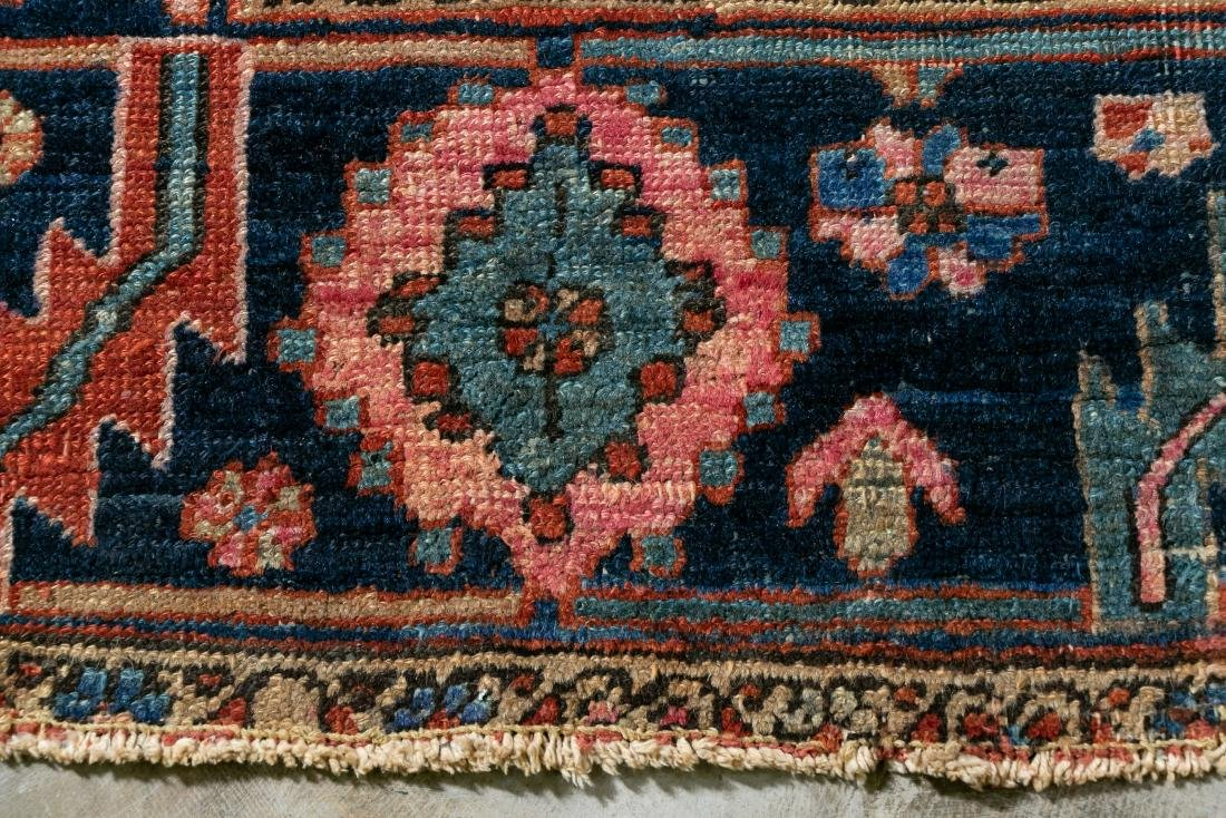 "Hand Woven Heriz Rug or Carpet, 9' 7"" x 12' - 4"