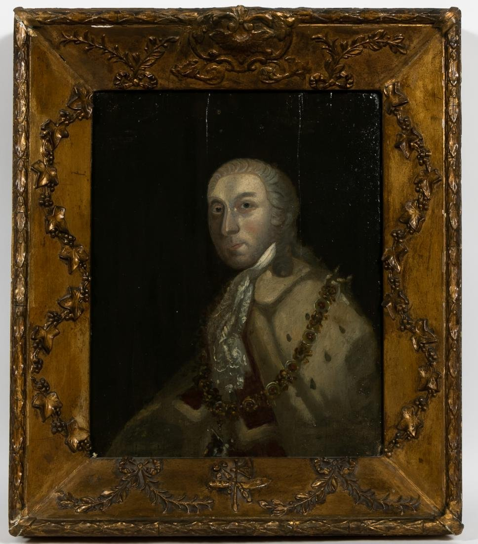 18th C. Irish School Portrait of a Lord in Ermine