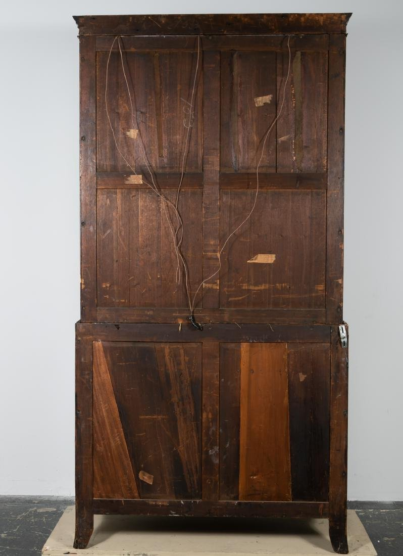19th C. English Mahogany Bookcase on Chest - 7