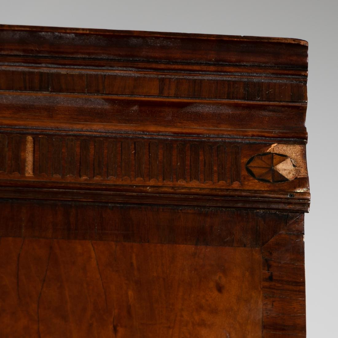 19th C. English Mahogany Bookcase on Chest - 9