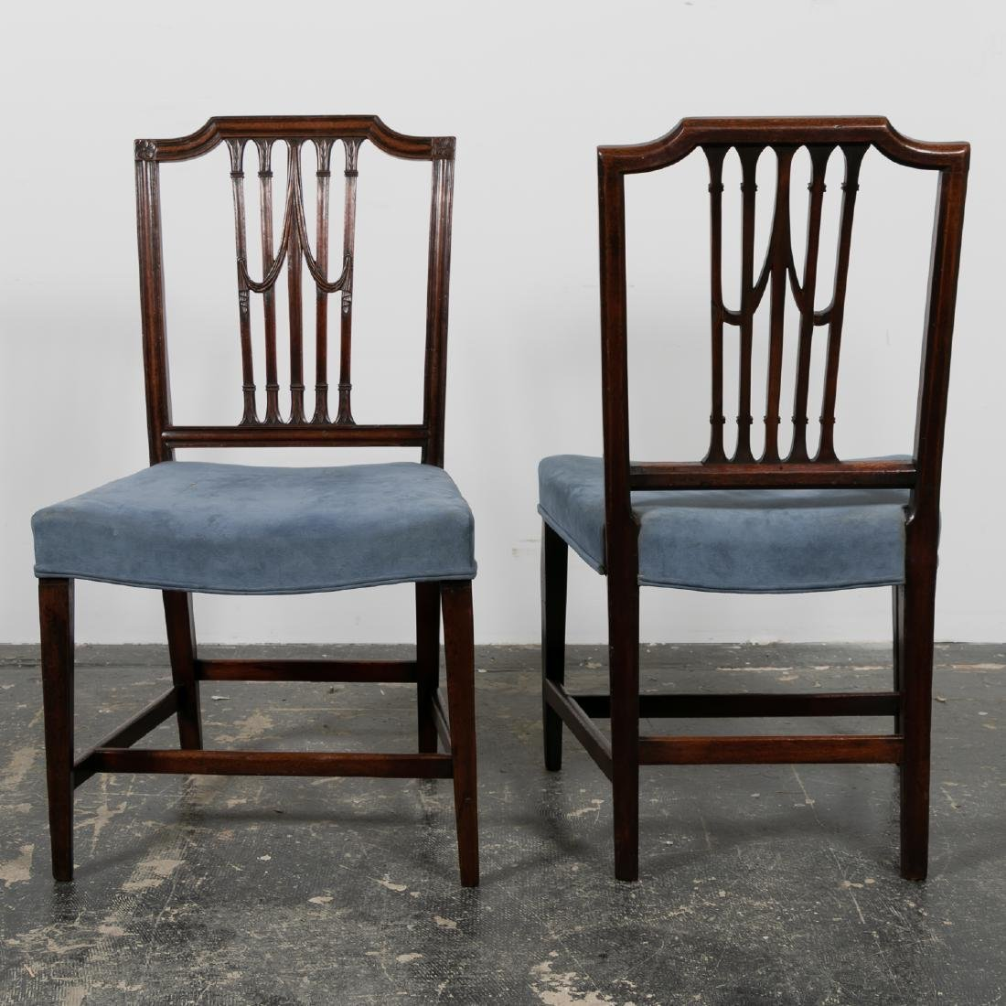 S/4 English Mahogany Sheraton Side Chairs, 19th C. - 3