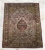"Hand Woven Silk on Silk Qum Rug, 3' 5"" x 5' 3"""