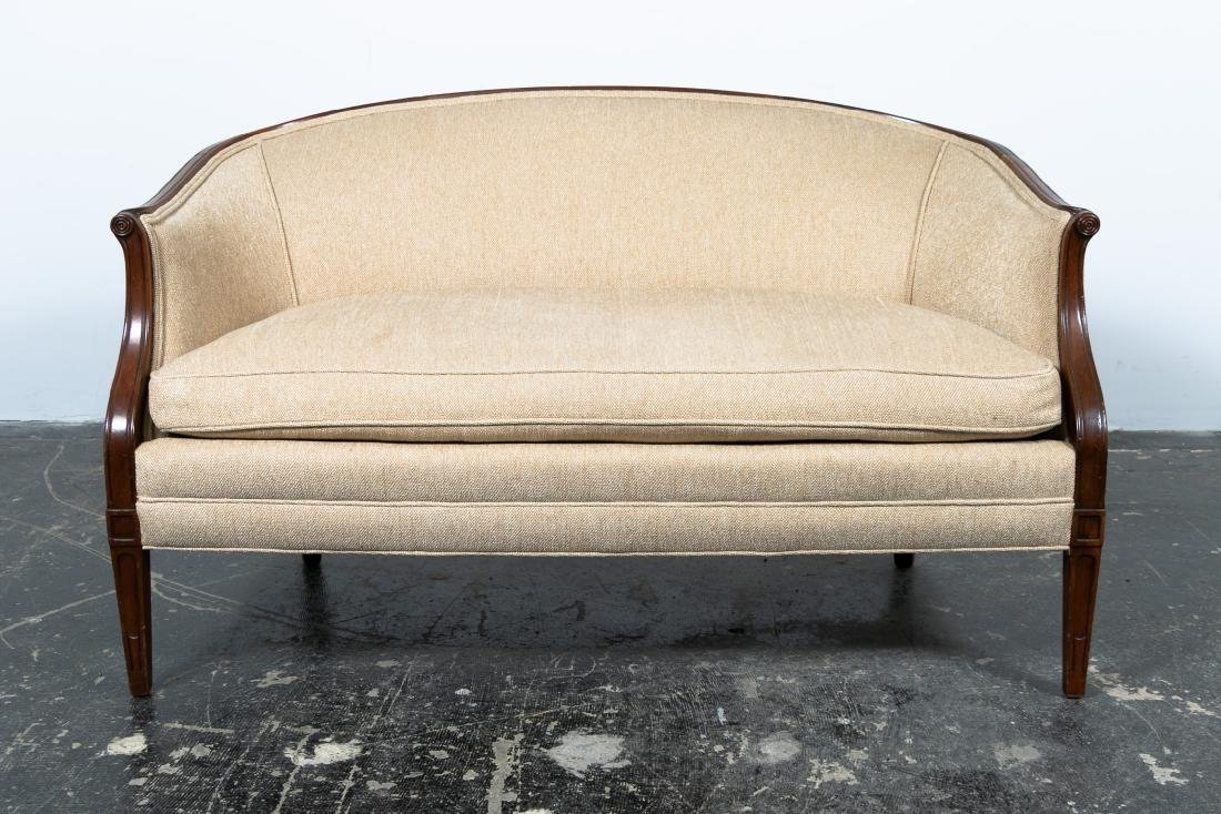 Hepplewhite Style Upholstered Settee, 20th Cent.