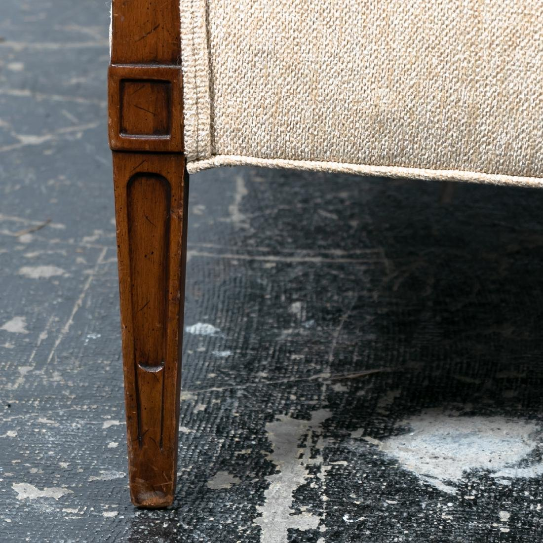 Hepplewhite Style Upholstered Settee, 20th Cent. - 9