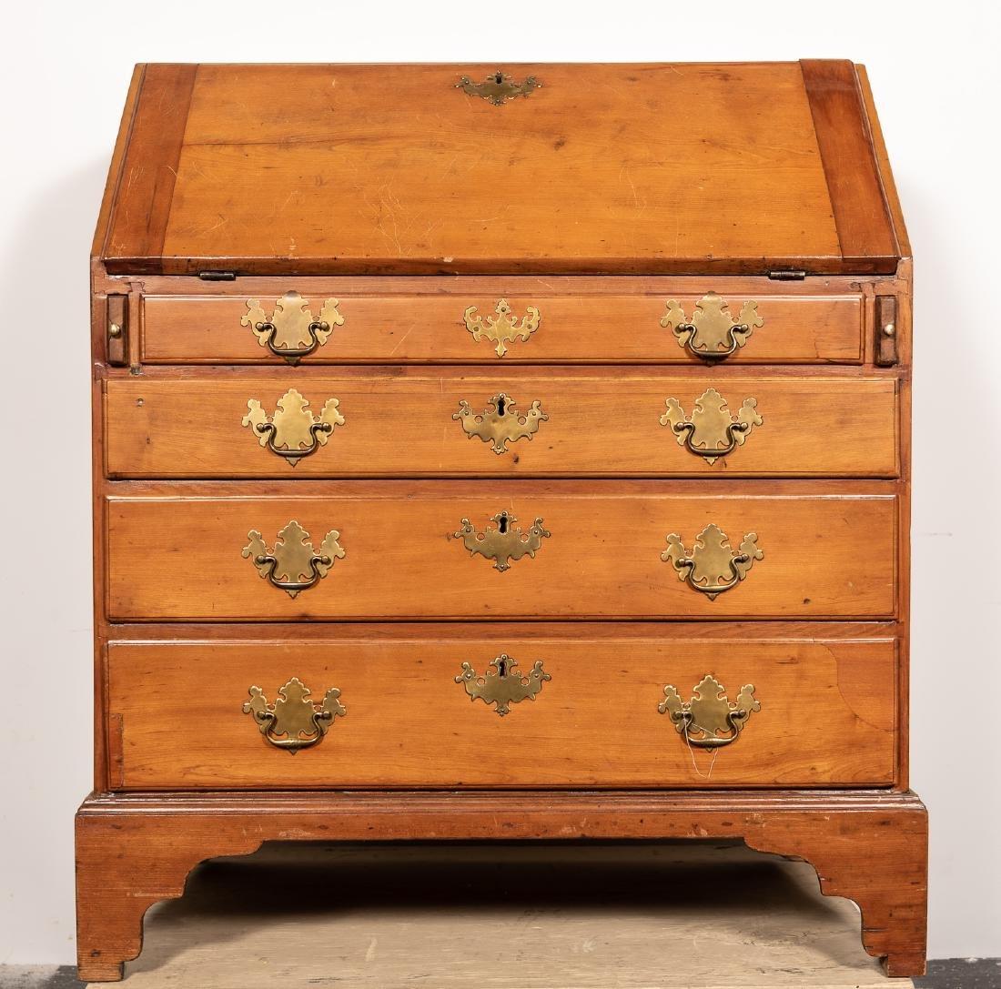 American Drop Front Secretary Desk, C. 1780-1820