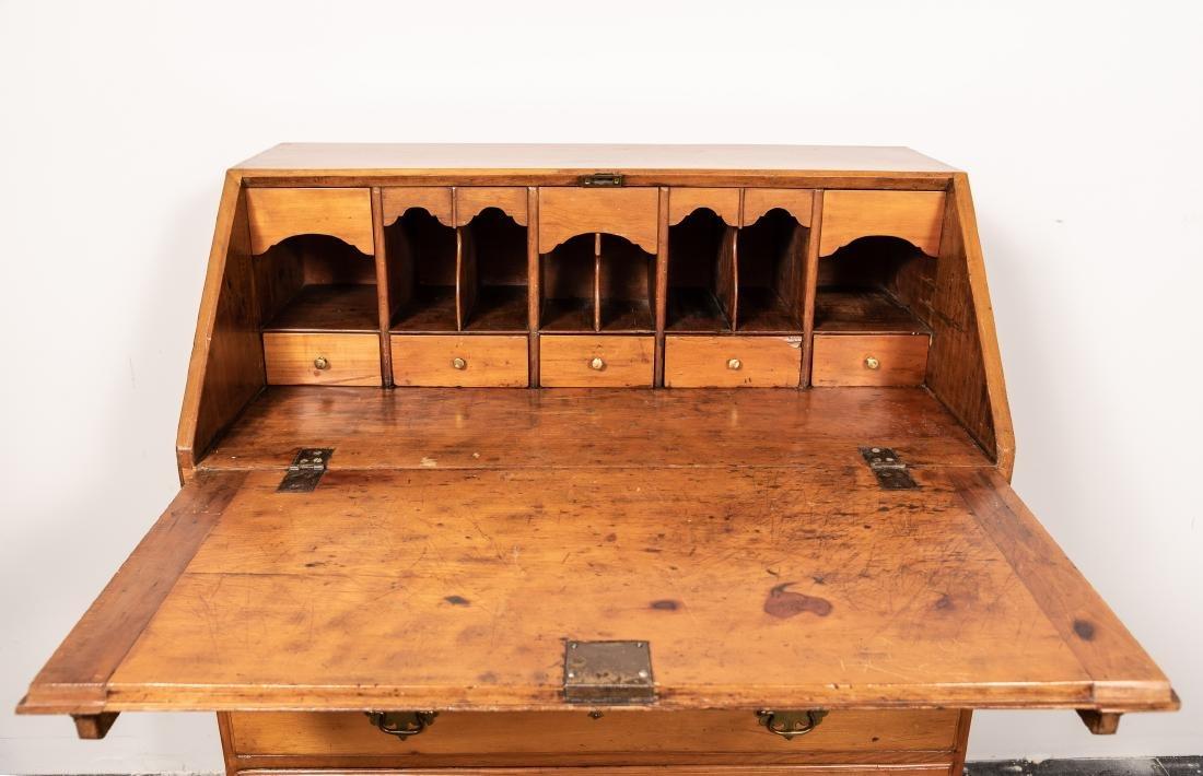 American Drop Front Secretary Desk, C. 1780-1820 - 4