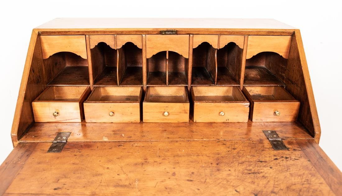 American Drop Front Secretary Desk, C. 1780-1820 - 5