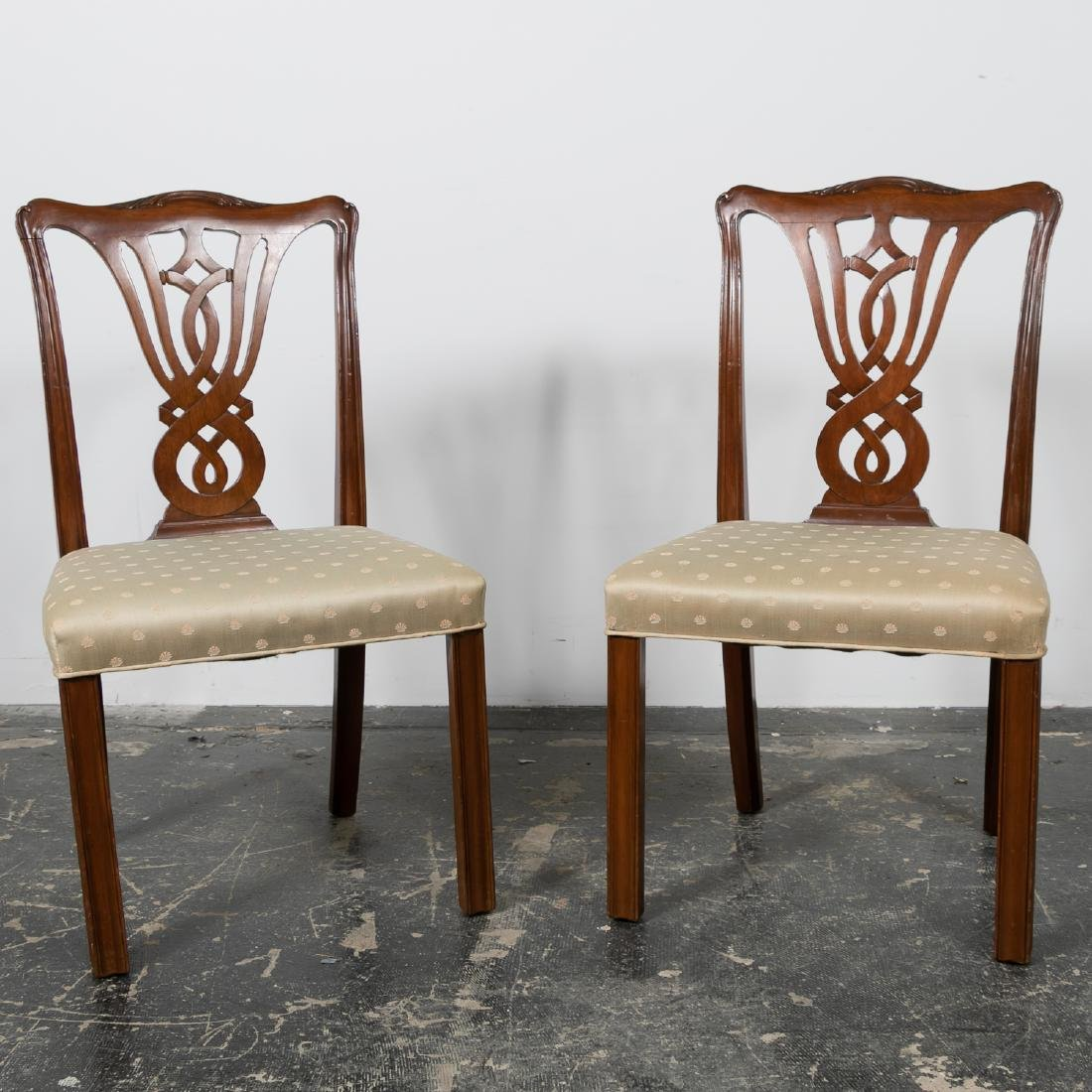 Pair, 20th C. Mahogany Side Chairs