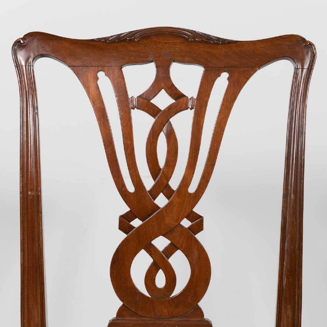 Pair, 20th C. Mahogany Side Chairs - 4
