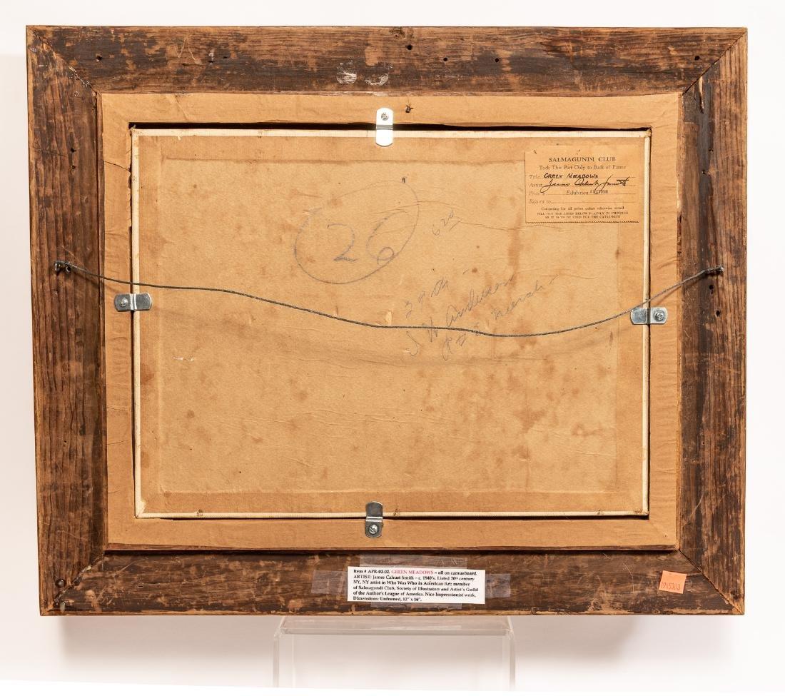 "James C. Smith ""Green Meadows"" Oil on Board - 2"