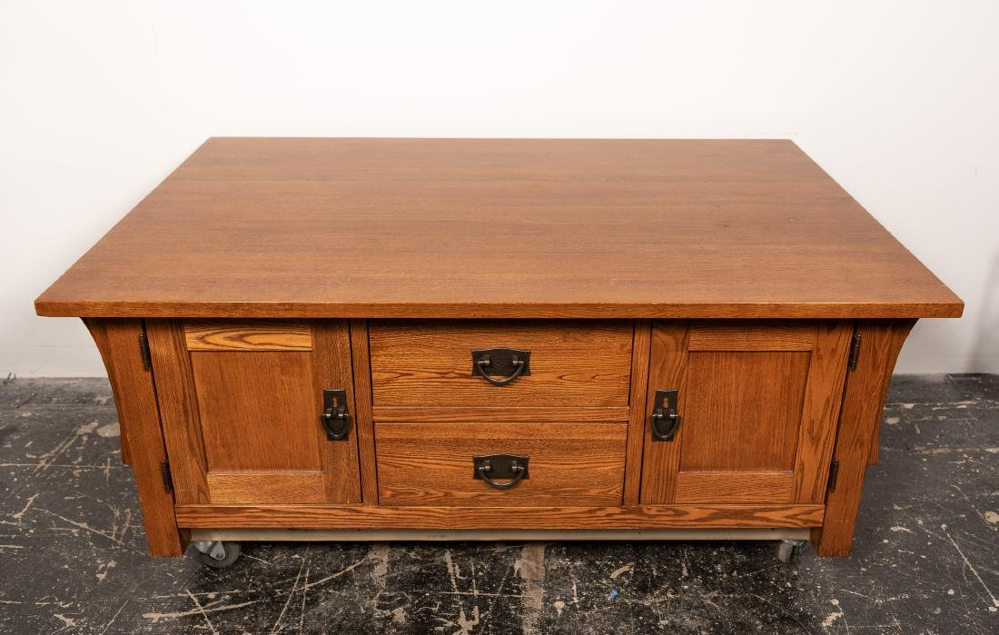Stickley Style Arts & Crafts Coffee Table - 2