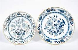 Two Meissen Blue Onion Shallow Bowls