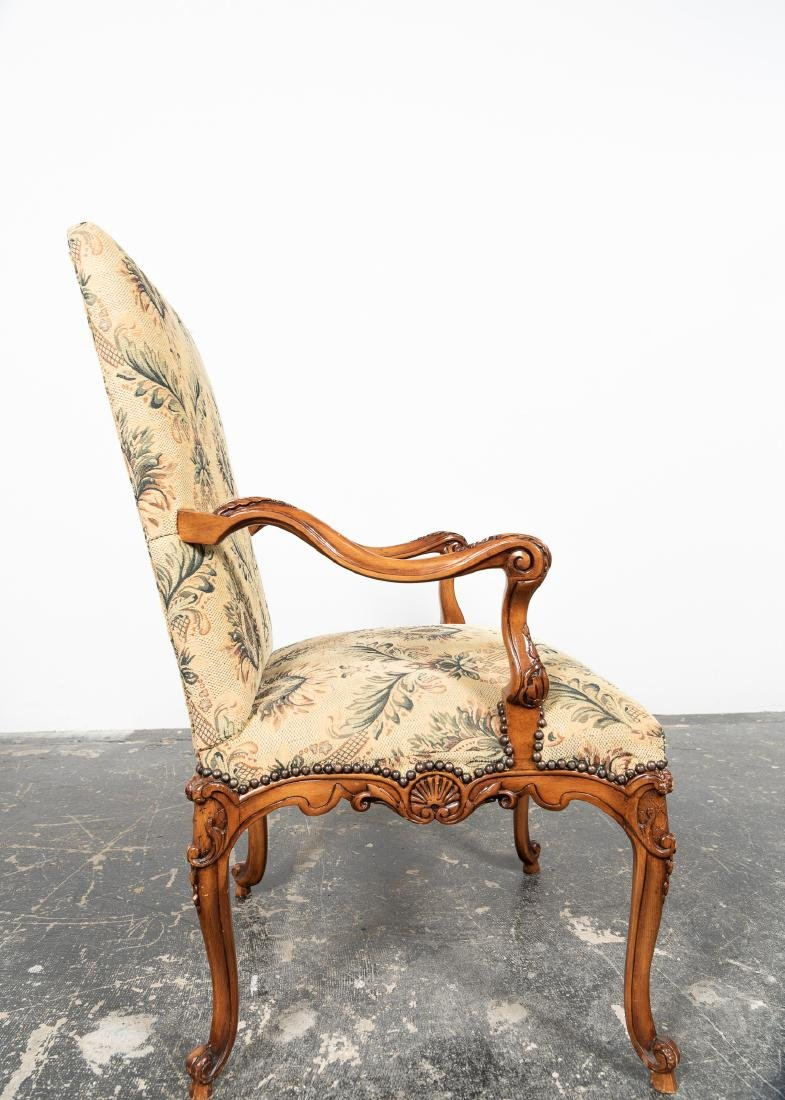 Ten Louis XIV Style Upholstered Dining Chairs - 5