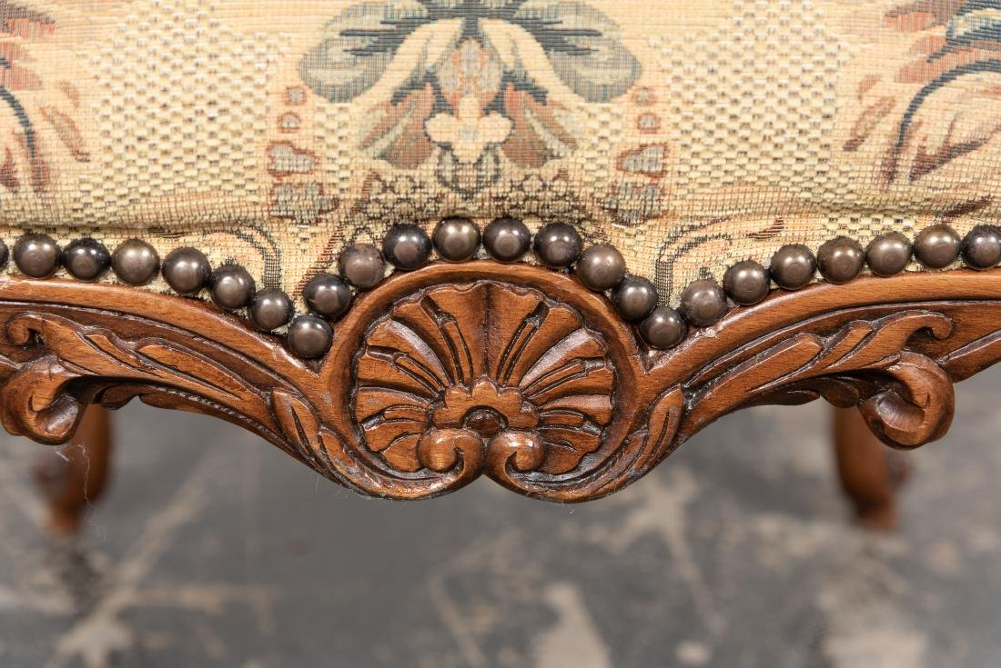 Ten Louis XIV Style Upholstered Dining Chairs - 7