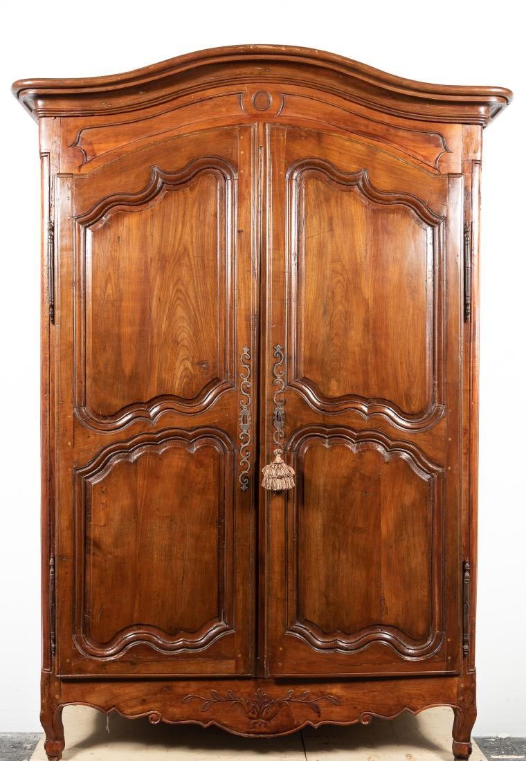 Vintage antique furniture wardrobe walnut armoire Art Deco Louis Xv Style French Two Door Armoire Liveauctioneers Vintage Armoires Wardrobes For Sale Antique Armoires Wardrobes