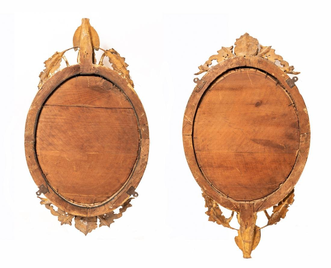 Pair of 19th c. French Giltwood Mirror W/ Sconces - 2