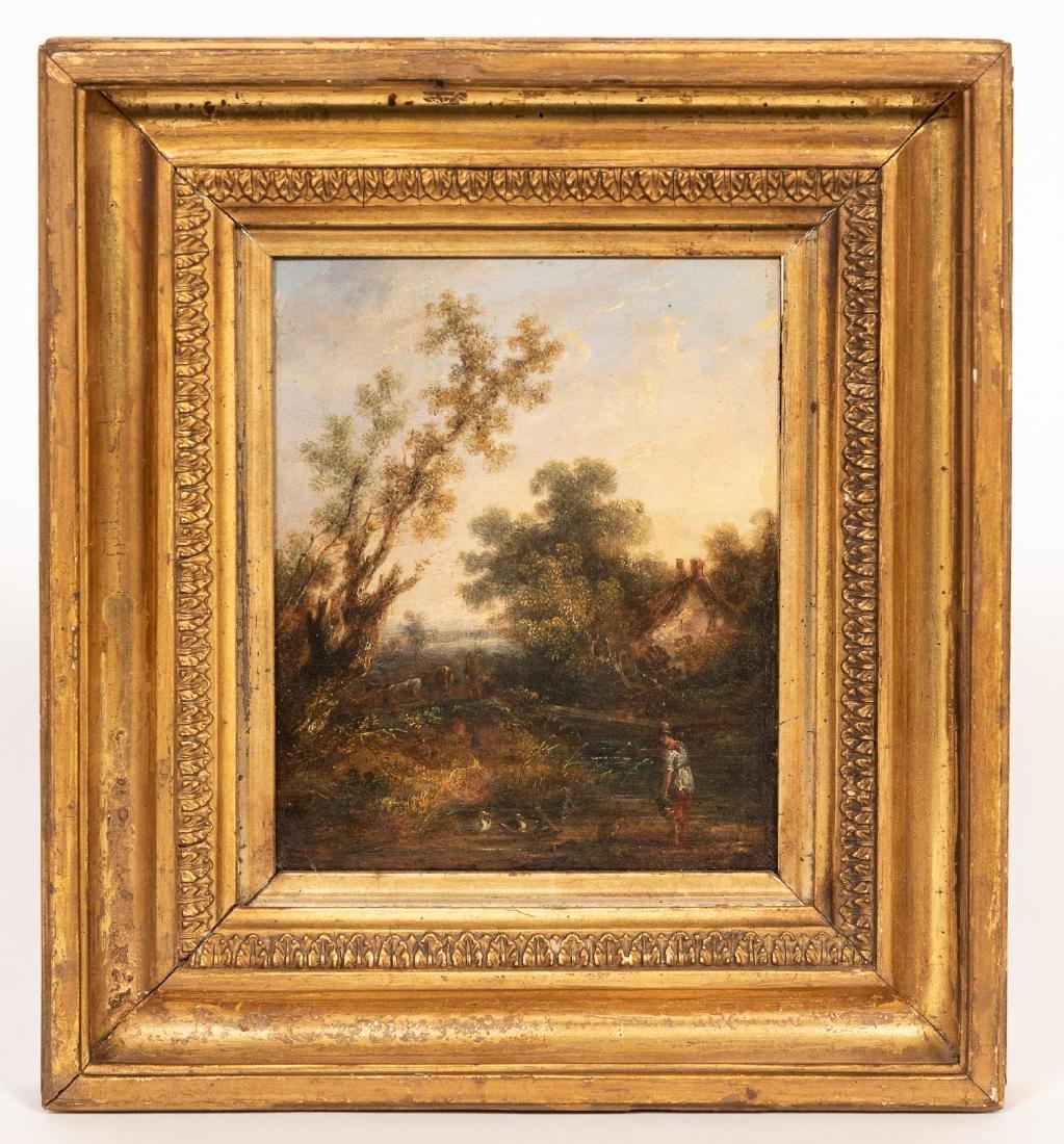 Circle of Willem De Heusch, Landscape w/ Figure