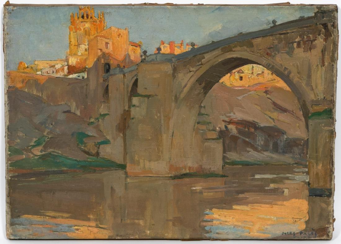 """Jules Pages, """"Puente de San Martin"""", Signed Oil"""