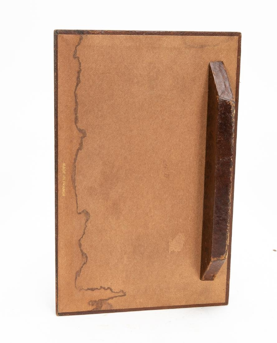 6, Leather Bound Faux Book Desk Accessories - 10