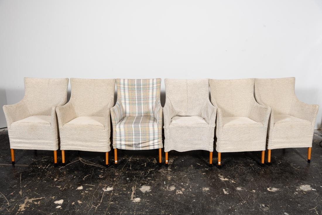 "Set, 6 Giorgetti ""Giorgina"" Arm Chairs"