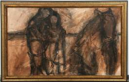 Gino Hollander, Abstracted Figures with Horse
