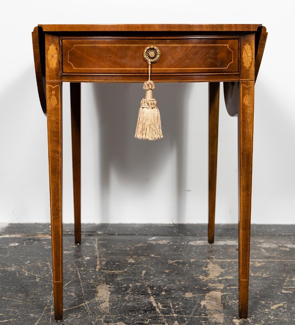 Baker Sheraton Style Inlaid Pembroke Table