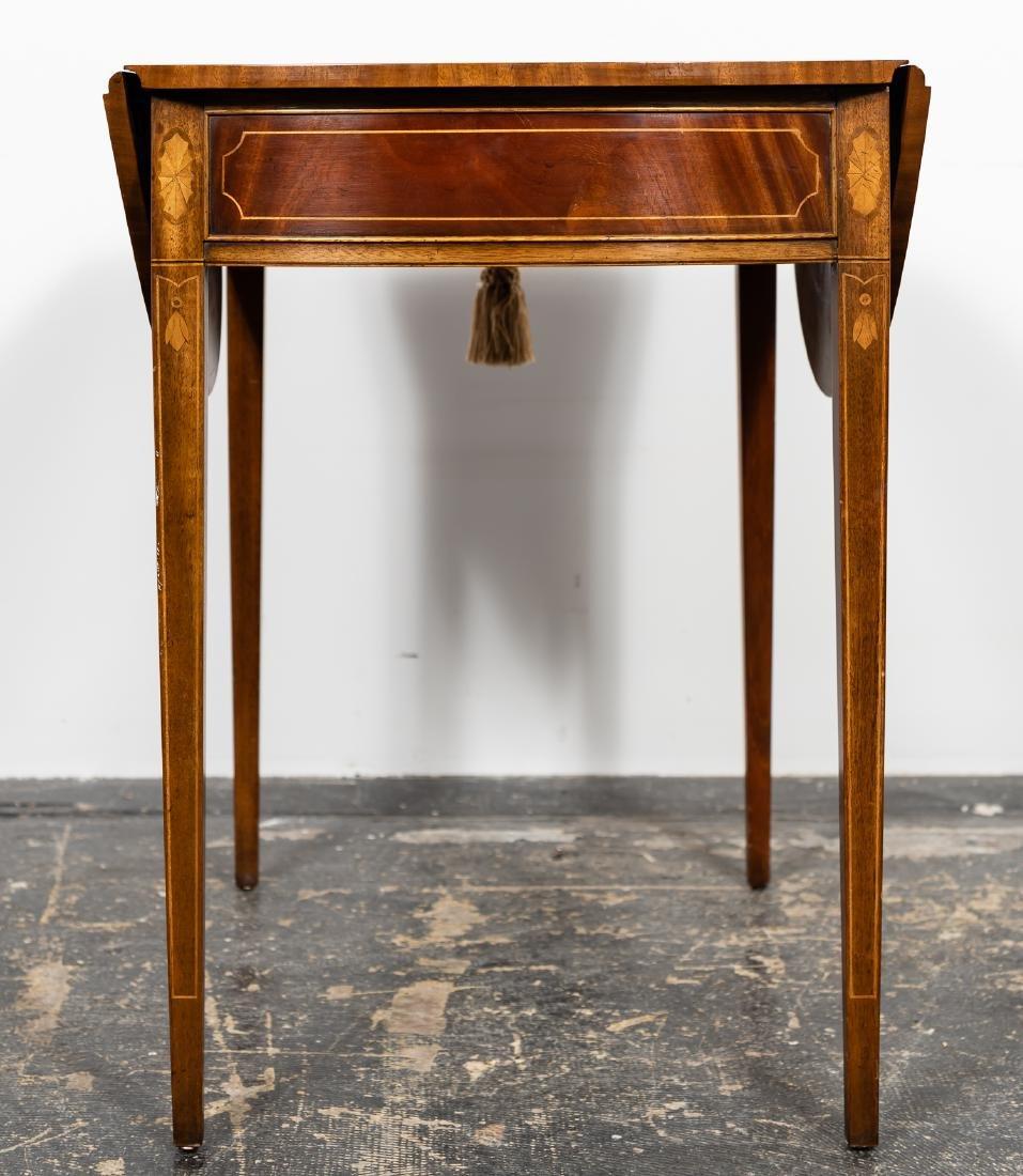 Baker Sheraton Style Inlaid Pembroke Table - 2