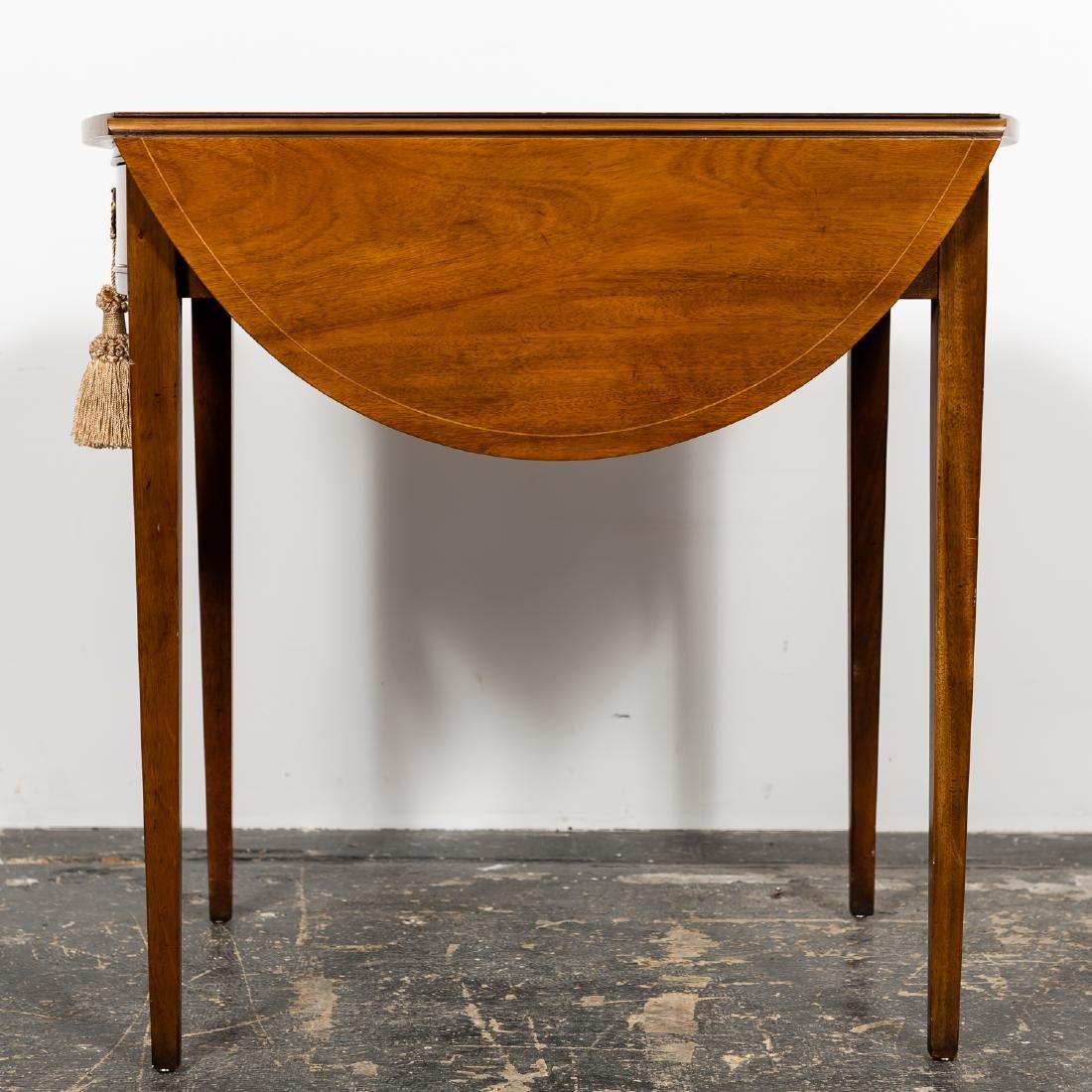 Baker Sheraton Style Inlaid Pembroke Table - 4