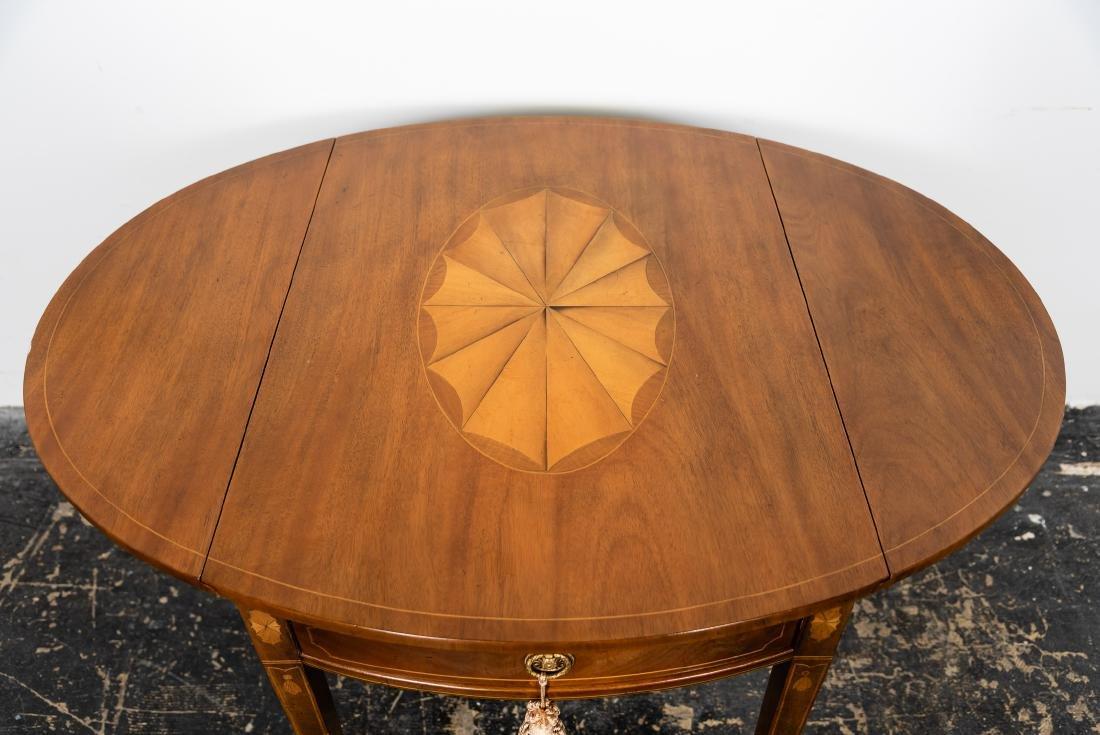 Baker Sheraton Style Inlaid Pembroke Table - 5