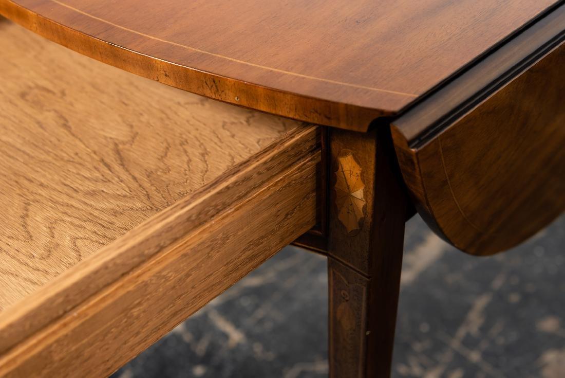 Baker Sheraton Style Inlaid Pembroke Table - 7