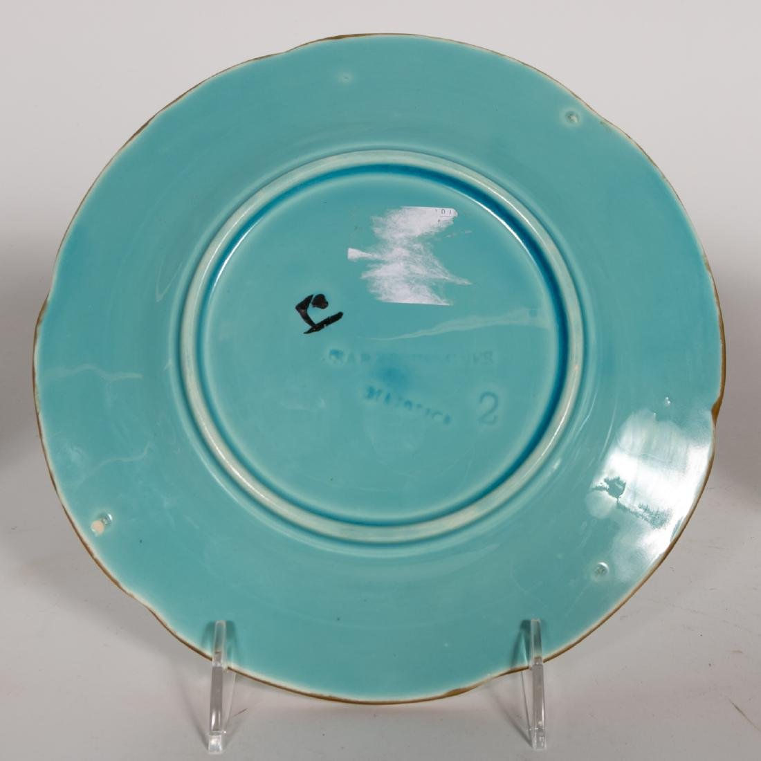 Group, 4 Floral Continental Majolica Plates - 7