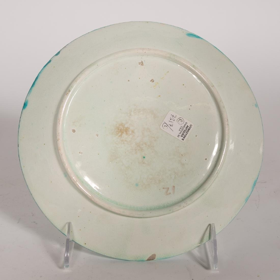 Group, 4 Floral Continental Majolica Plates - 9