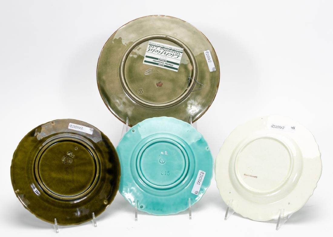8 Continental Majolica Plates, Various Patterns - 2