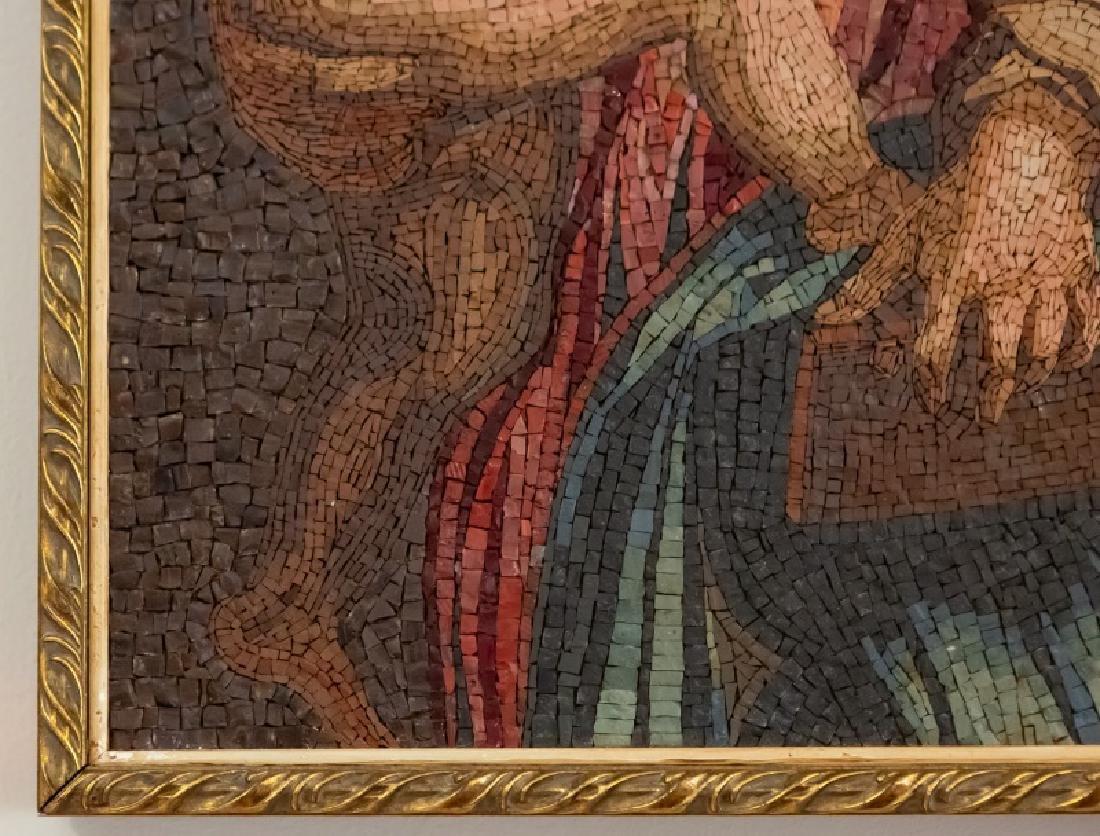 Italian Micro Mosaic Madonna & Child - 3