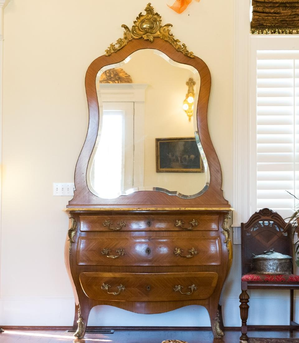 Impressive Louis XV Style Commode with Mirror