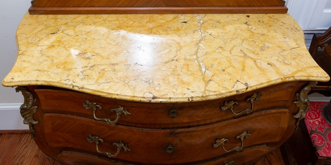 Impressive Louis XV Style Commode with Mirror - 3